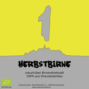 Birnensaft 'Herbstbirne 2018'